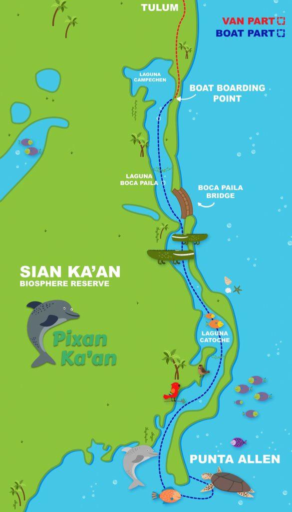Sian Ka'an Map