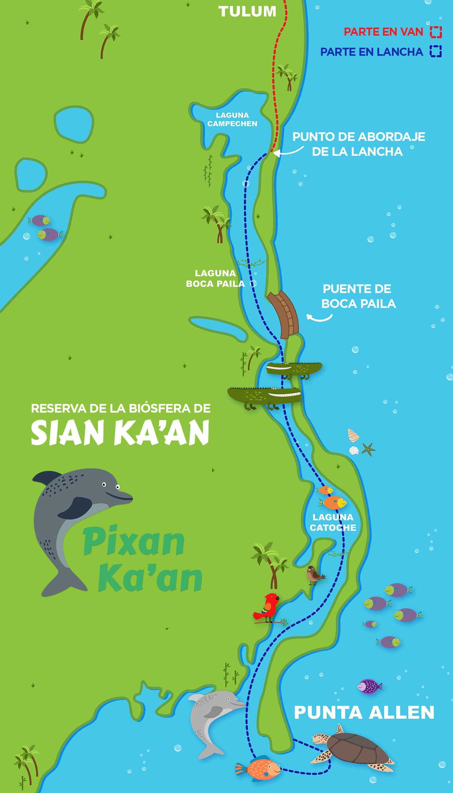 Mapa de Sian Ka'an